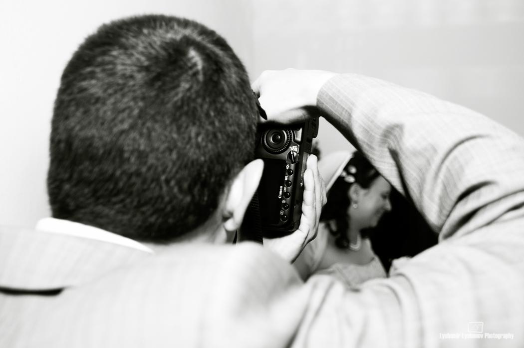 За младоженците фотографи. София, България